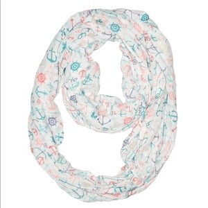 Claire's infinity scarf white & colorful nautical